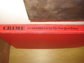 Intriguing Over Sized Crime Book As Reported By The New York Times. 1976 Edition