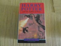 Harry Potter and the Goblet of Fire hardback + bookmark