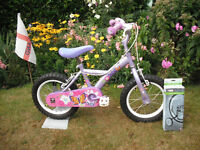 """Girls Apollo Petal Bicycle - 14"""" Wheels - Includes Stabilisers"""
