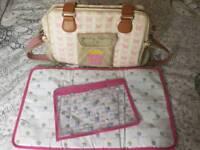 *Cheap!! Pink lining yummy mummy changing bag