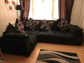 Corner sofa with scatter cushions good condition