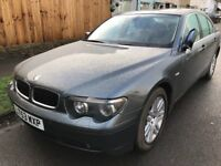 BMW 745 I Auto 4398cc Petrol Automatic 4 door saloon 53 Plate 05/09/2003 Grey