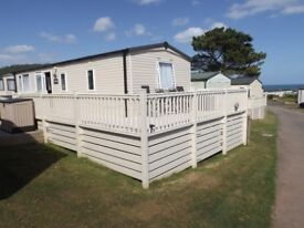 Beautiful static caravan to rent at glorious Ladram Bay in S Devon