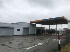 Commercial property TO LET on a Busy Road for Car Wash/Tyres etc. RELIST