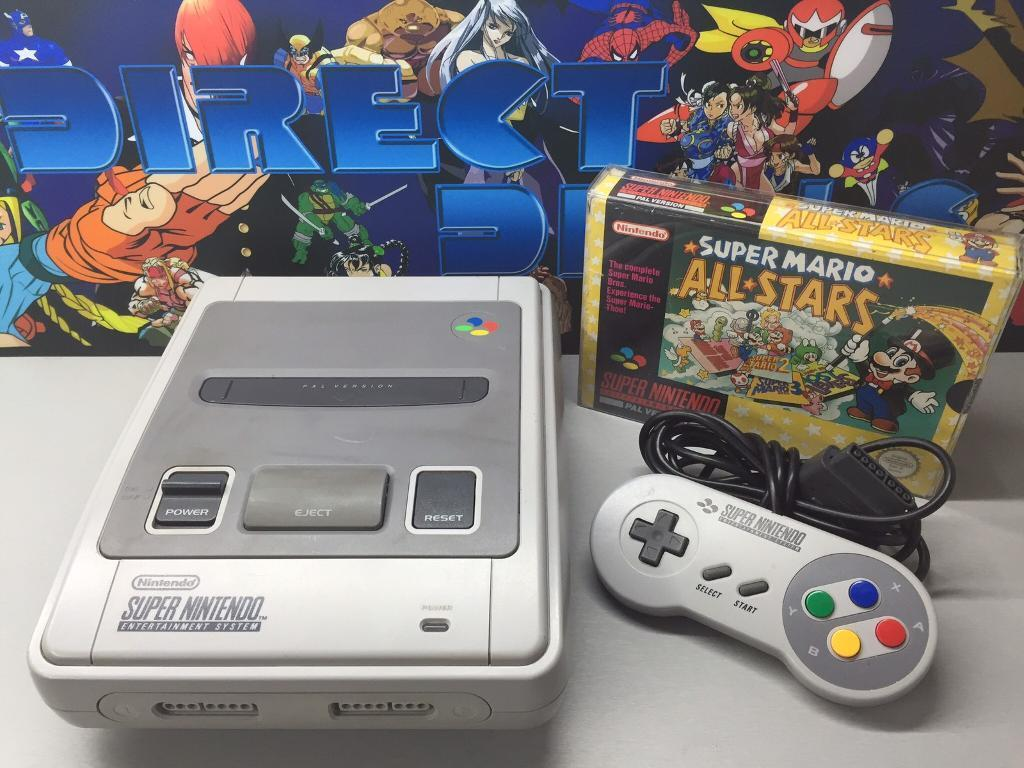 Super Nintendo Snes all leads and controller