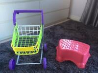 Toddler trolley and footstep