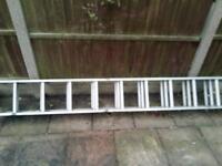 Triple extending ladders