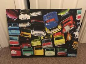 Canvas matchbox cars