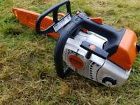 "STIHL MS 201T TOP HANDLED 14"" ARBORIST CHAINSAW"