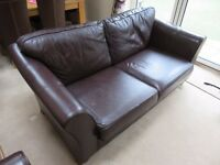 Marks and Spenser Sofa bed - dark brown leather from the Abbey range