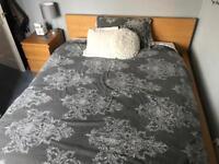 IKEA Malm oak veneer standard king bed frame and 2 sets of matching bedside drawers