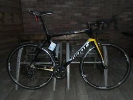 BRAND NEW Giant TCR Advanced 3 Carbon Frame Large Road Bike - Never Used