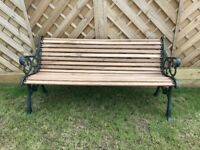 Fully restored Vintage cast iron garden bench 5 ft