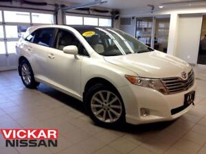 2011 Toyota Venza AWD/LEATHER/1 OWNER LOCAL TRADE/ULTRA LOW KMS!