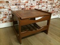 Charming retro coffee table, side table with ceramic tile inset, excellent condition
