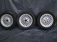 bmw 16inch e39 turbine style alloy wheels, need tyres and refurb.
