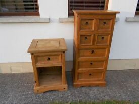 Large Pine Unit 7 Drawers