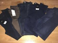 BN Next skinny jean trousers 5 pairs size 8