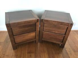 Solid wood pair of bedside cabinets - High quality