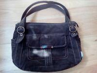 Brown suede, satchel Genuine Classic Fossil handbag, excellent condition