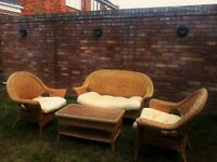 Bamboo conservatory, patio, garden furniture set in good used condition
