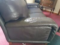 Free Comfy Brown Leather Sofa