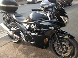 Suzuki Bandit 1250 with full fairing luggage and bagster