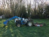 Mitsubishi MT250 Compact Tractor with topper and front loader
