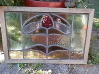 Two Victorian/Edwardian Stained Glass Panels