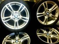 18 inch 5x120 genuine staggered M-sport alloys wheels