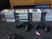 Play station 2 plus 40 games