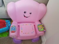 Girls pink interactive chair