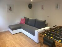 Brand new corner sofa bed with storage and sleeping function