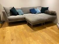 Sofa com grey linen corner chaise sofa, £2300 when new