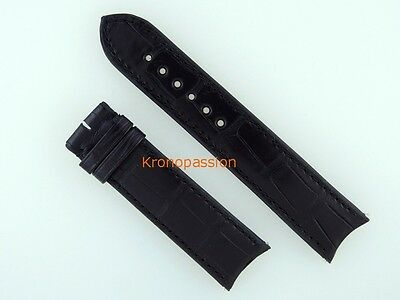 F.P.Journe Black Alligator Strap with Rubberized Back 21mm/19mm New !