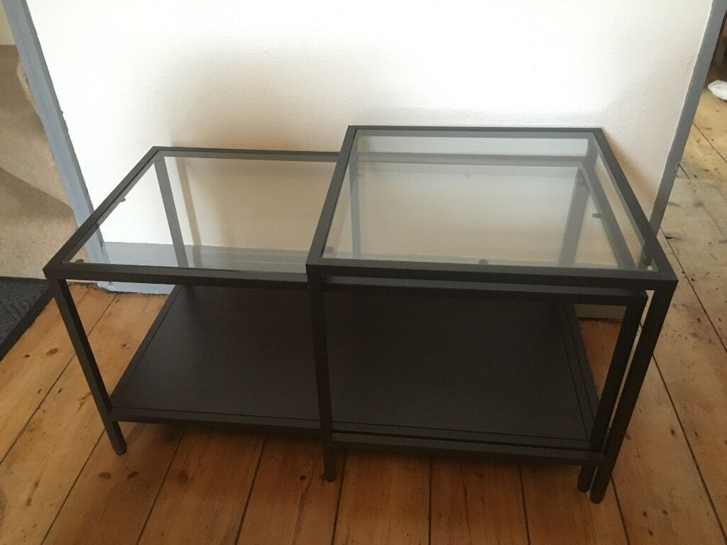Ikea 2 in 1 coffee table 39 vittsjo nest of tables 39 in for Table ikea 4 99