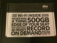 Sky+HD, 3D Ready, Anytime+HD Box with Remote Control, Power Lead & HDMI Cable
