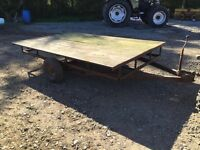 Flat leaf trailer 6' X 9' single Axle 750kg Gross unbraked