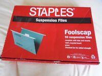 Staples Foolscap Suspension Files x 37