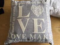 2 x B&M grey detailed cushions for sale!