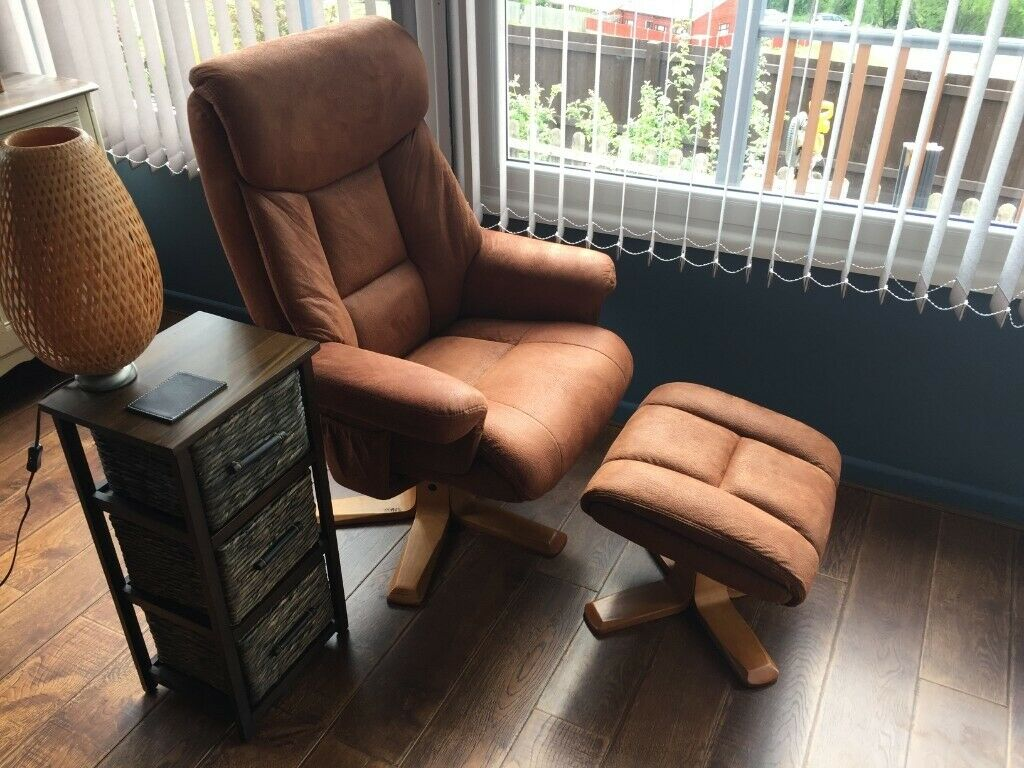 Incredible Recliner Armchair And Foot Stool In Bewdley Worcestershire Gumtree Pabps2019 Chair Design Images Pabps2019Com
