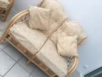4 piece cane conservatory set