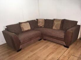Brown DFS corner sofa with free delivery within 10 miles