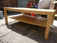 IKEA LACK coffee table birch effect with magazine storage shelf