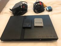 PS2 Slim + 4 Controllers + 39 Games