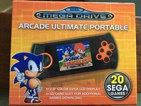 Sega genesis handheld console with 4gb memory card