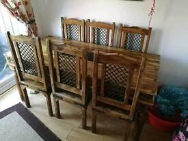 Jarli 6 seater table