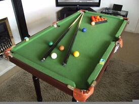 Childrens Snooker Table and accessories for sale