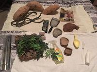 Tank/Case/Vivarium (VX48), Cabinet, & Accessories for Bearded Dragon, Reptiles etc