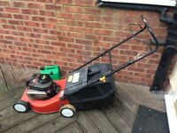 Lawnmower, petrol. Good working order, complete with grass box.